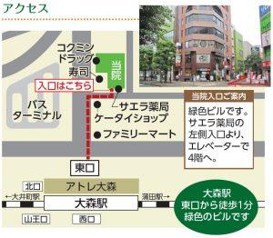 近隣マップ【大森整形外科】下線路